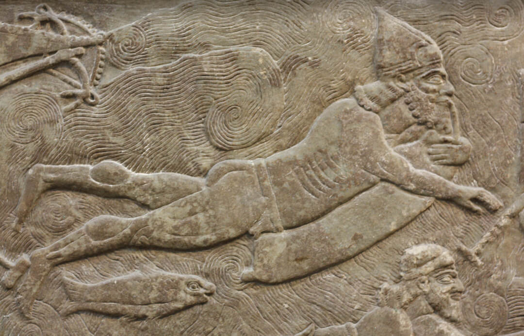 British Museum, History of Diving, Assyrian diver